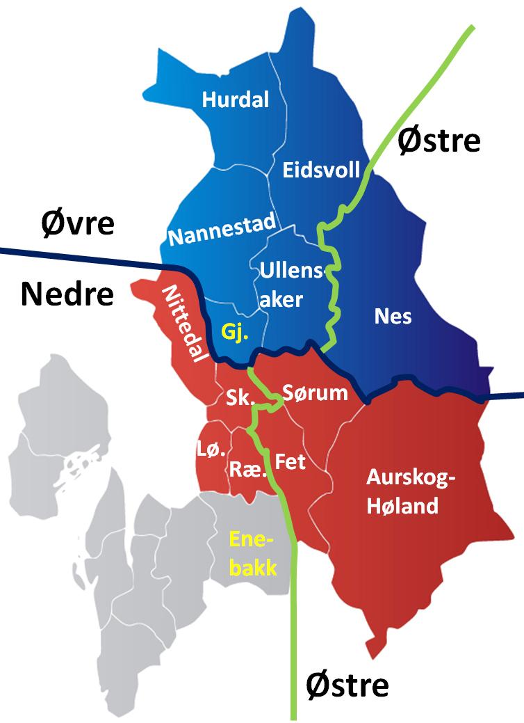 nedre romerike kart Øvre Romerike tingrett – Wikipedia nedre romerike kart