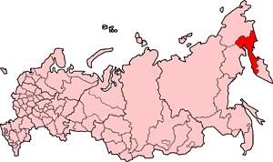 Корякский автономный округ на карте