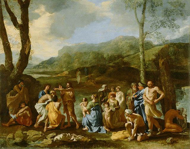 Saint Jean baptisant dans le Jourdain