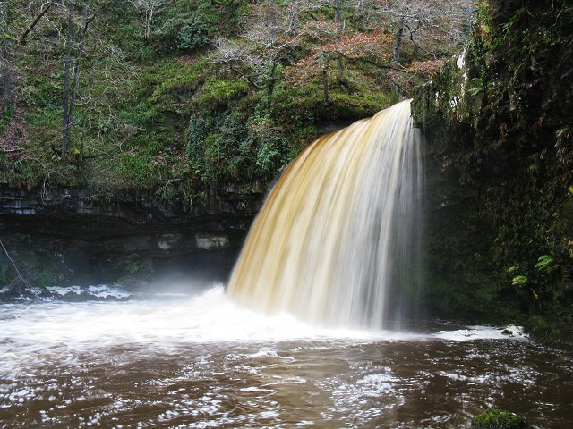 Scwd Gwladus in full flow - geograph.org.uk - 1584834