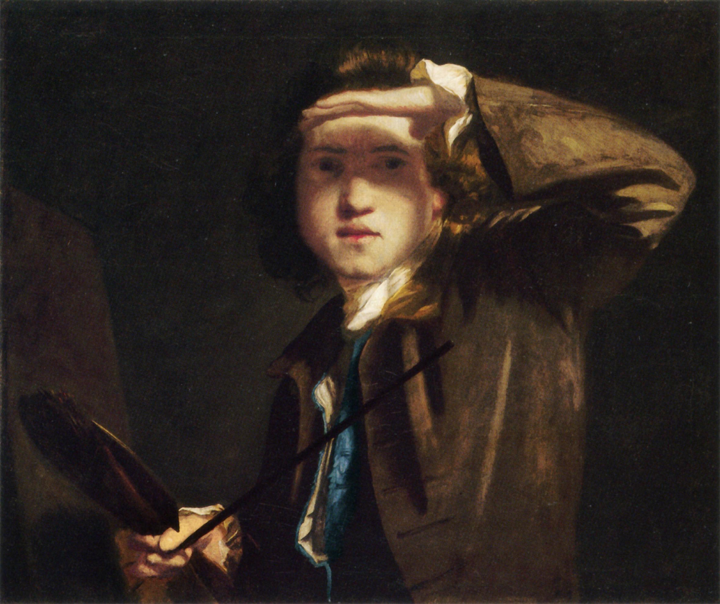 Reynolds, Self-portrait. 1747-9 [via Wikimedia Commons]