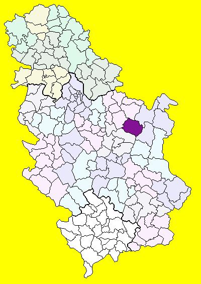 zagubica mapa Žagubica (općina) – Wikipedija zagubica mapa
