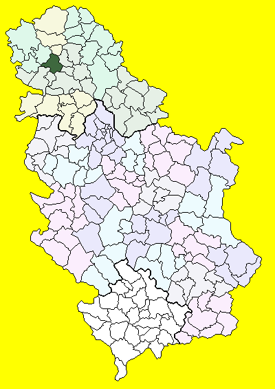 vrbas mapa srbije Врбас (община) — Википедия vrbas mapa srbije
