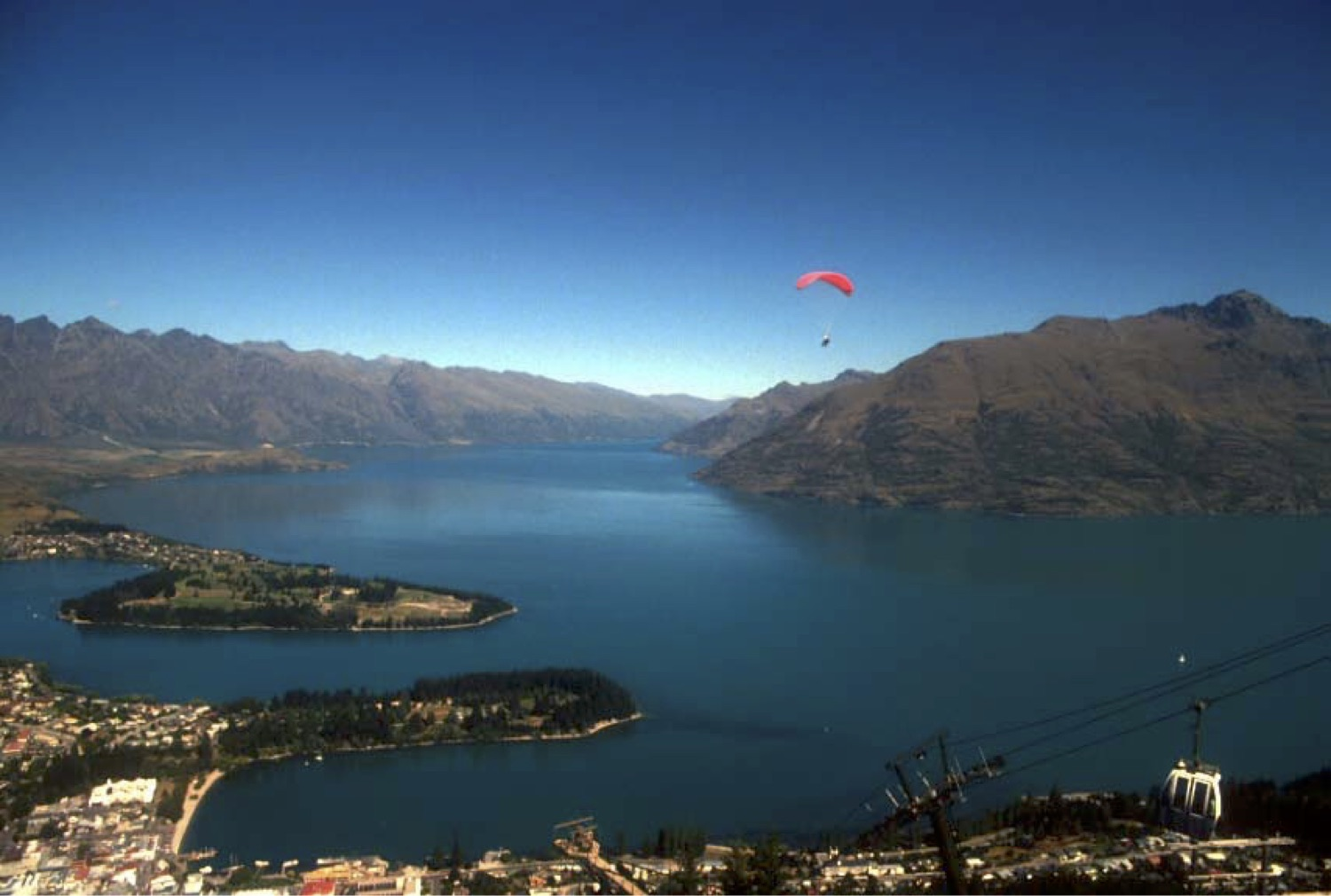 File Skydiver Over Lake Wakatipu Queenstown New Zealand 1994 Jpg