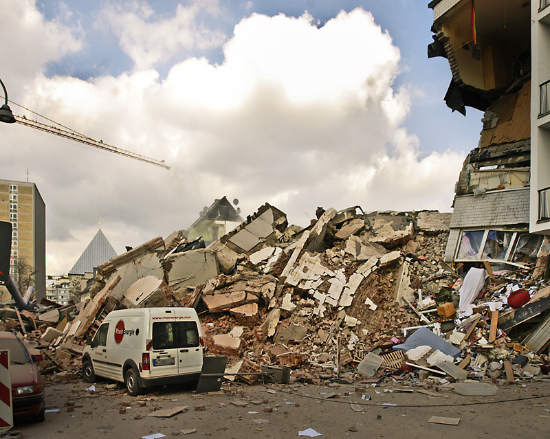 zerstörtes Archivgut in Köln 2009