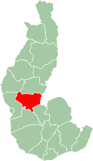 Map of former Toliara Province showing the location of Sakaraha (red).