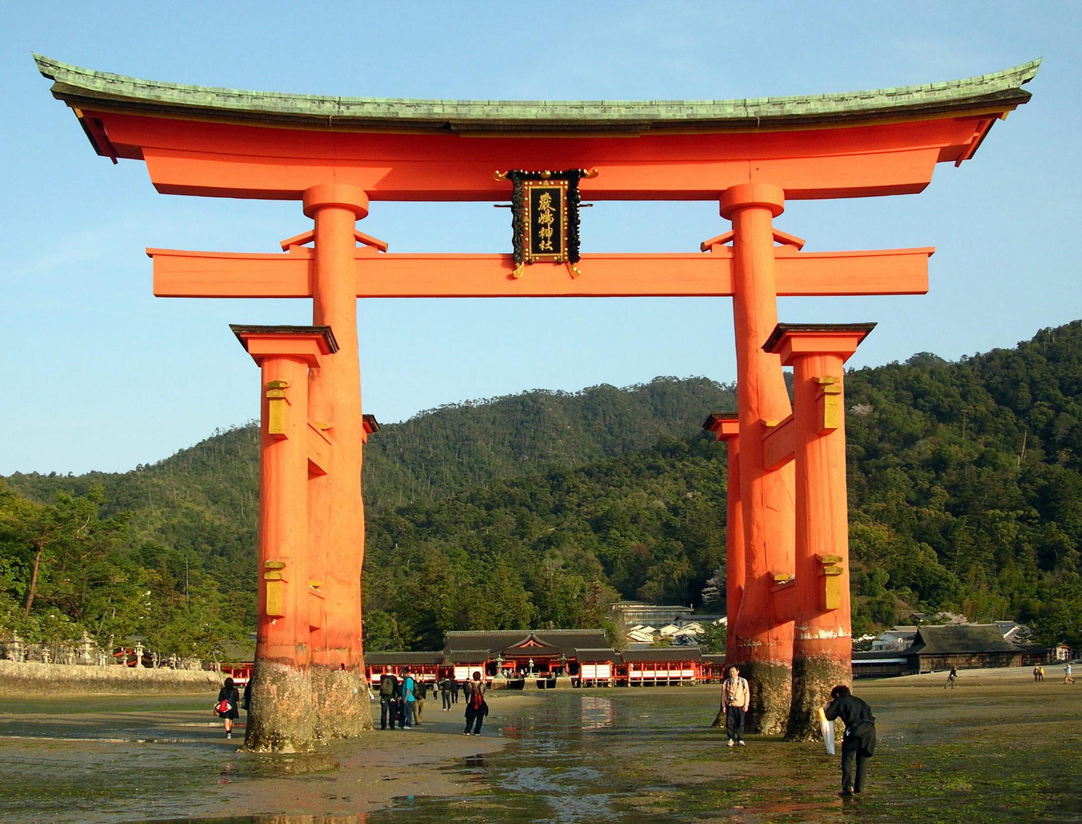 Miyajima Shrine at Sunset, Miyajima, Japan без смс