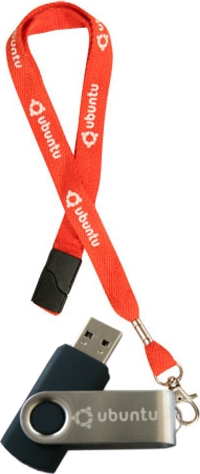 Ubuntu-branded USB flash drive and lanyard. Ubuntu USB lanyard.jpg