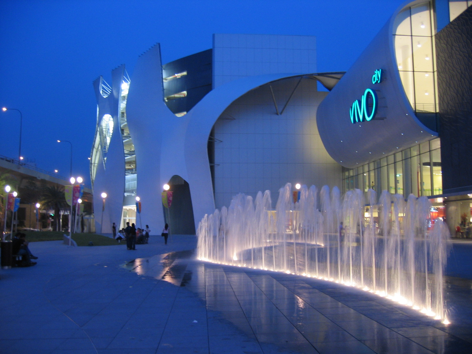 The frontview of Vivocity, a shopping mall in SIngapore