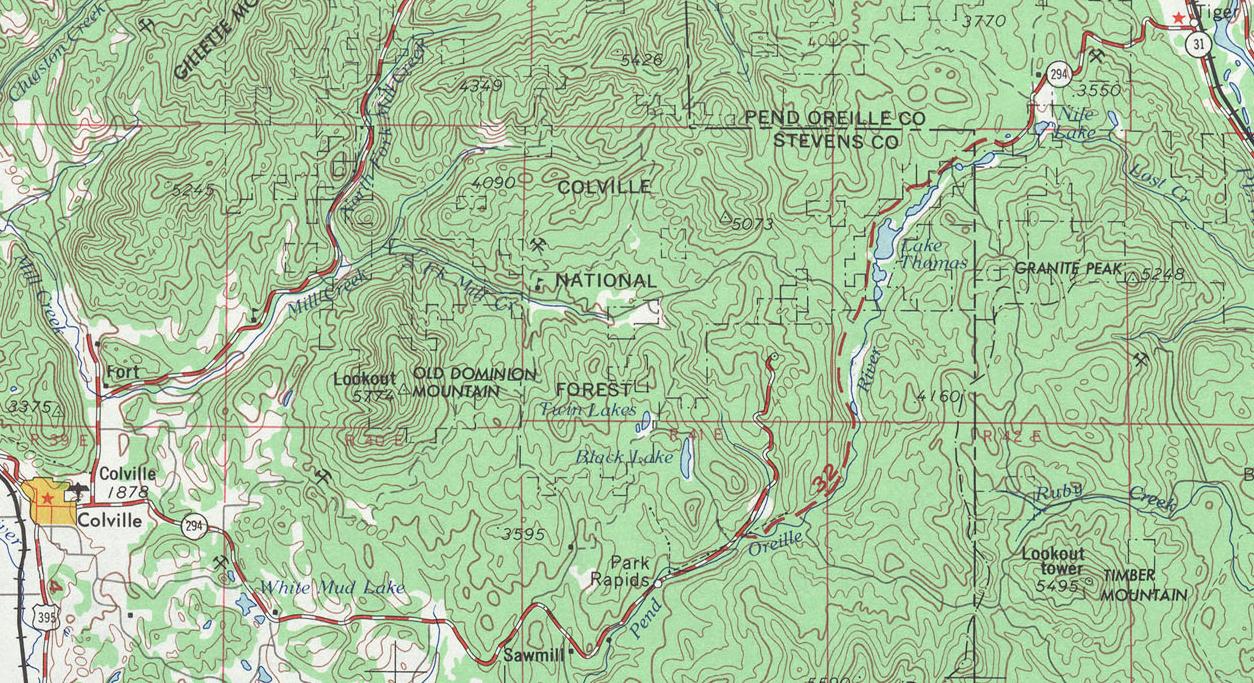 FileWashington State Route 294 Topo 1966png