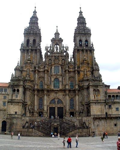 File Westwerk Der Kathedrale Von Santiago De Compostela