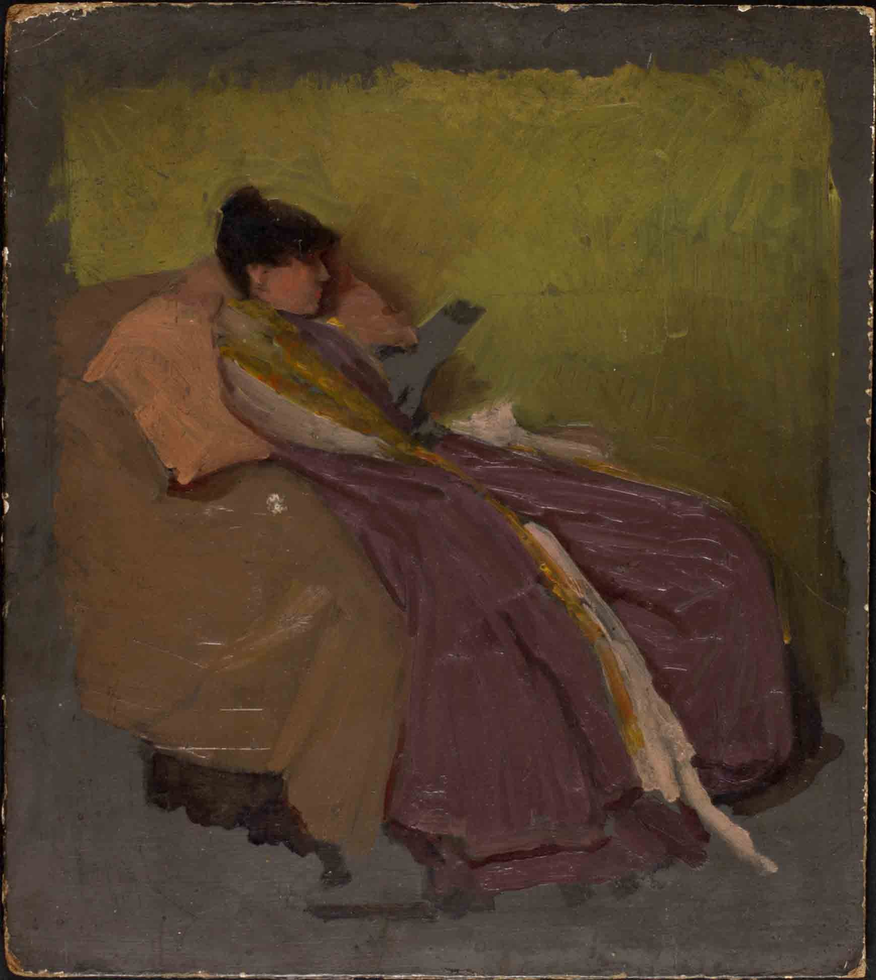 file:woman in an armchair reading a book - wikimedia commons