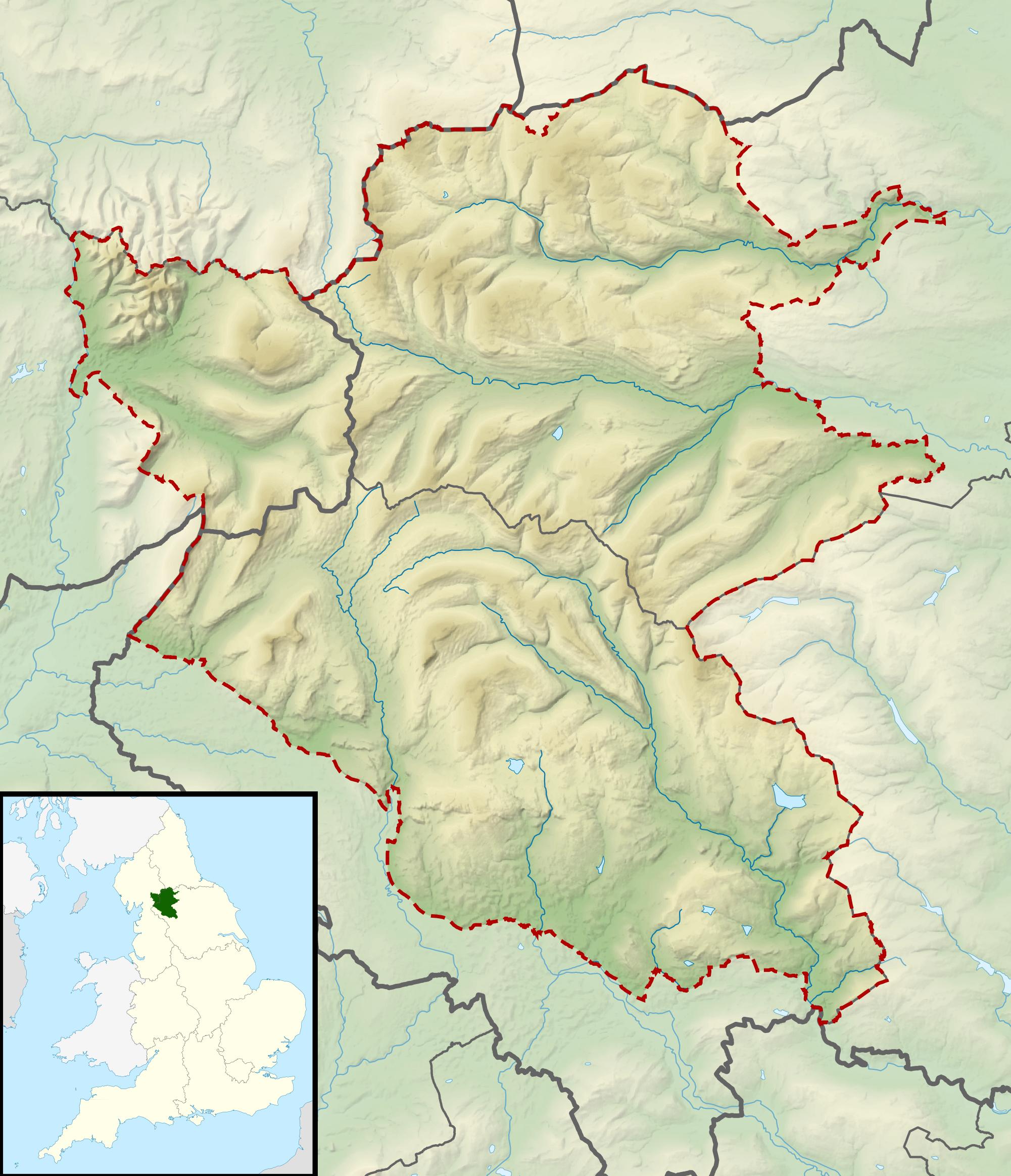 FileYorkshire Dales National Park UK Relief Location Mappng - National parks locations map