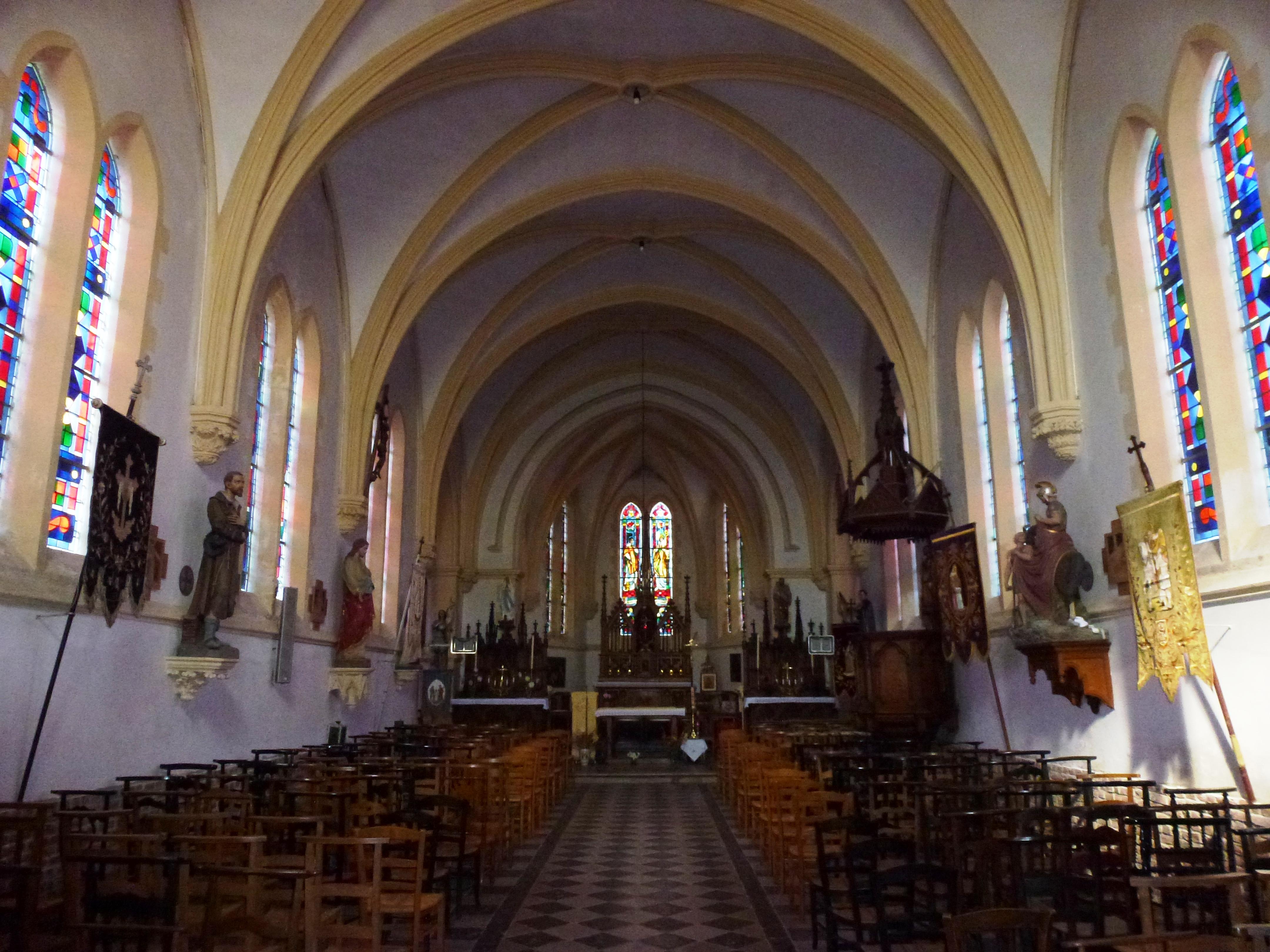 File zouafques pas de calais fr glise saint martin for Interieur eglise