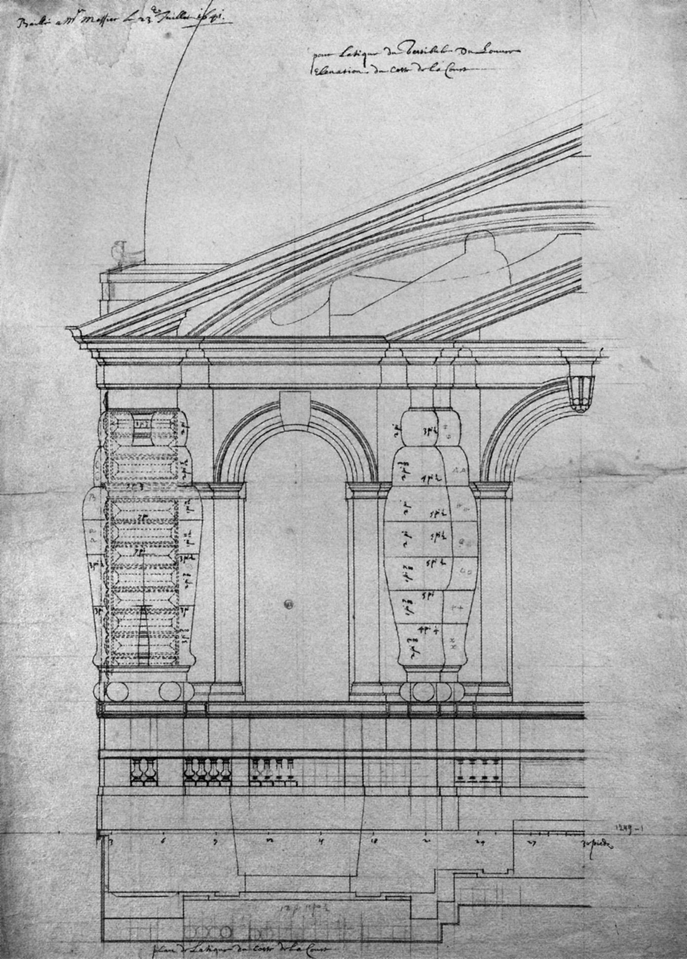 File Elevation De L Etage D Attique Du Pavillon Neuf Du Louvre