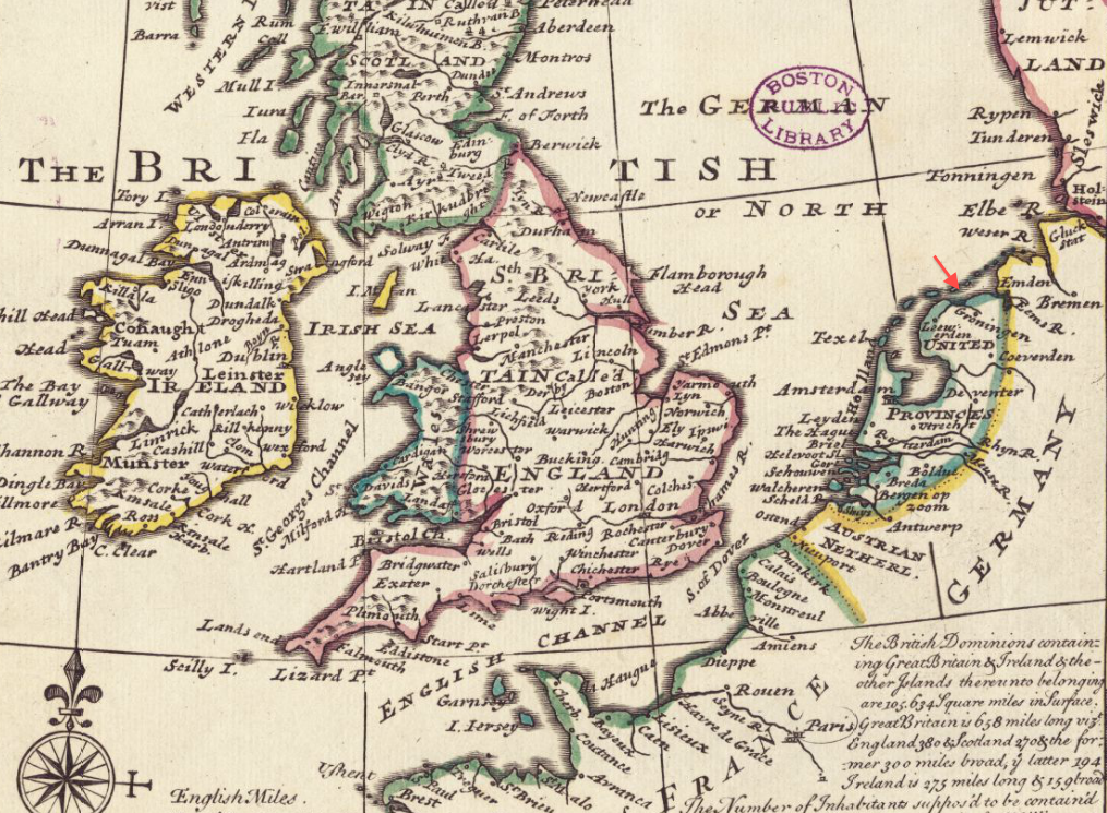 Map Of France Holland And Germany.File 1732 Groningen Detail Of General Map Of Great Britain And