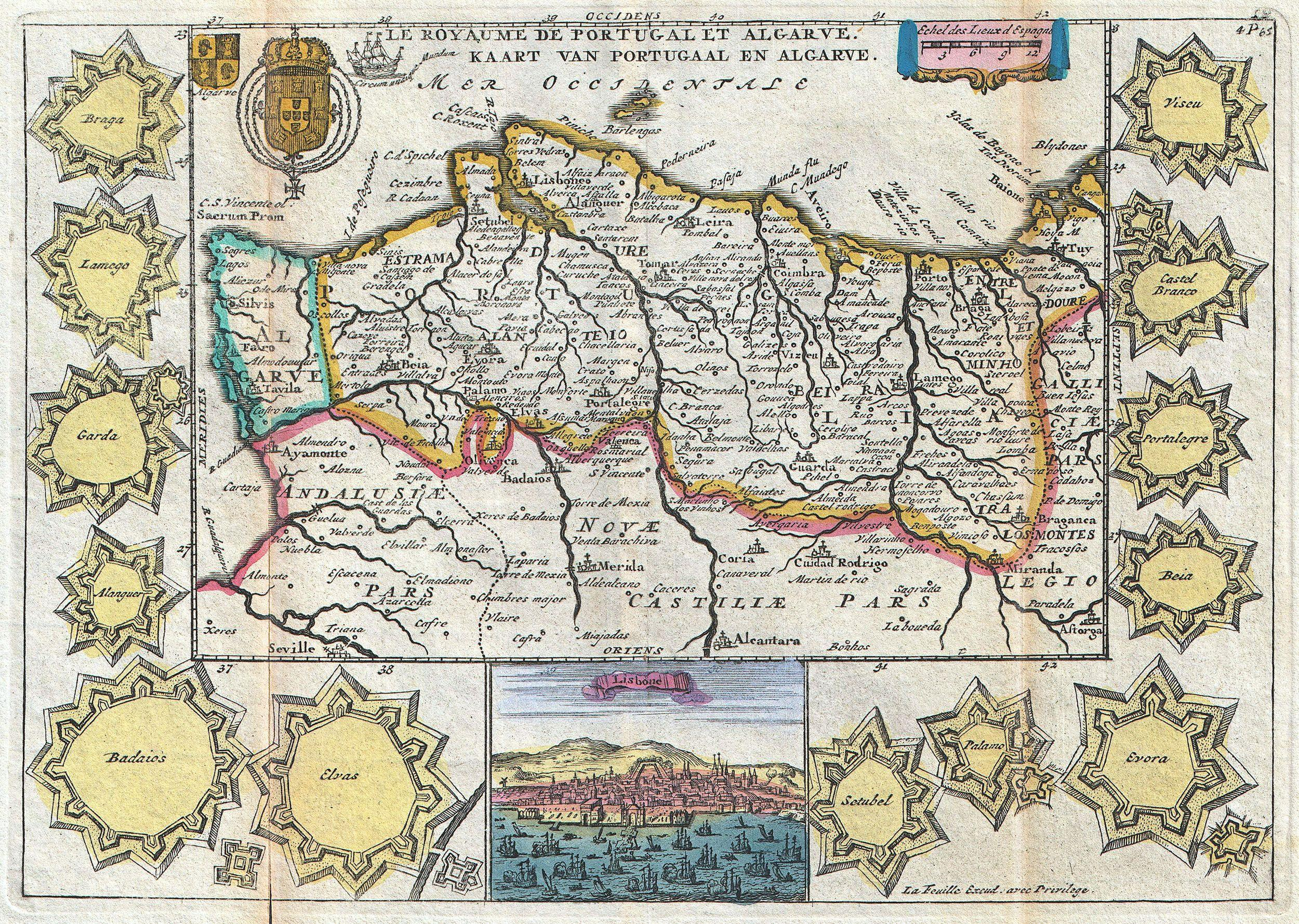 File 1747 La Feuille Map Of Portugal Geographicus Portugal