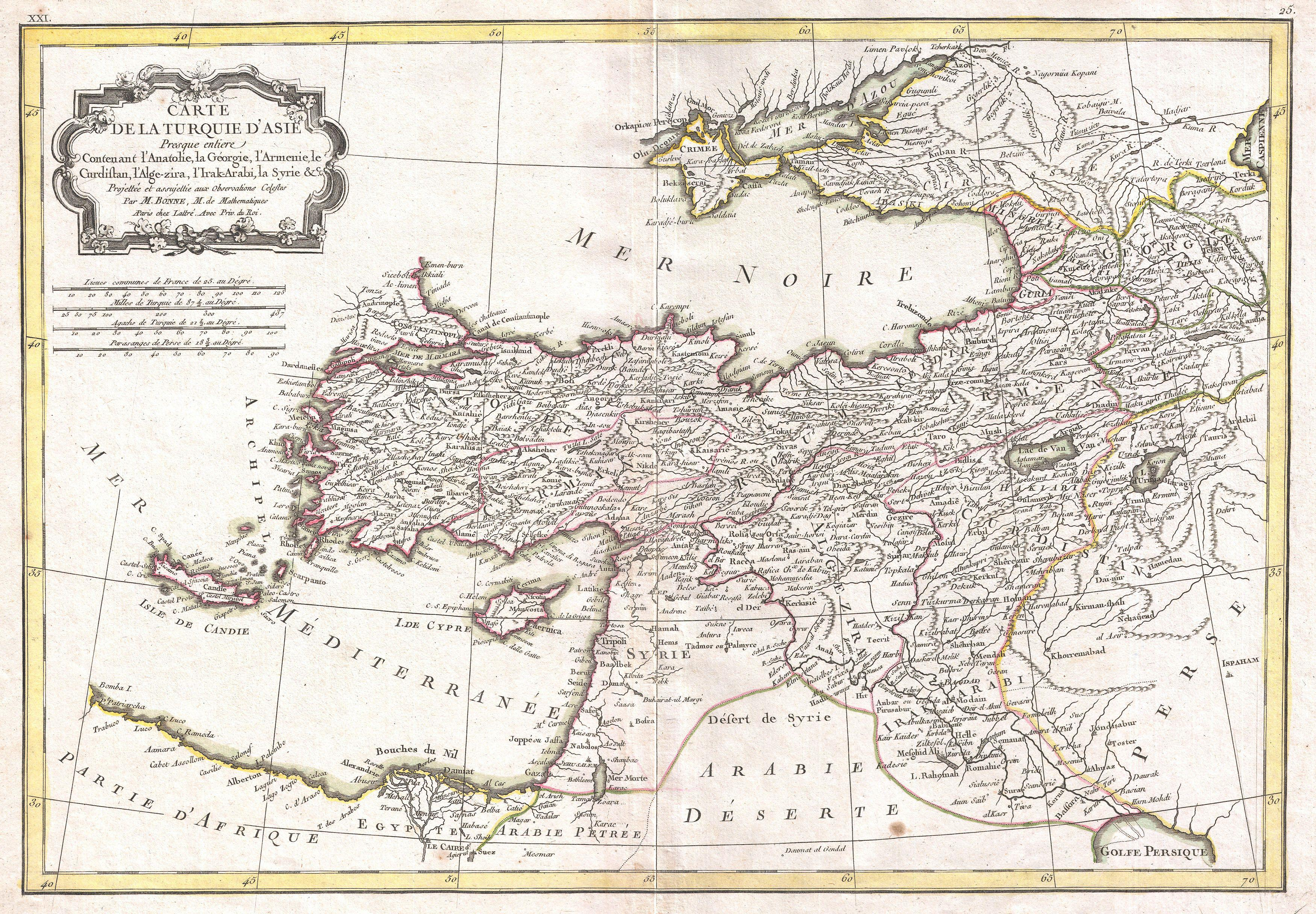 File:1771 Bonne Map of Turkey, Syria and Iraq - Geographicus ...