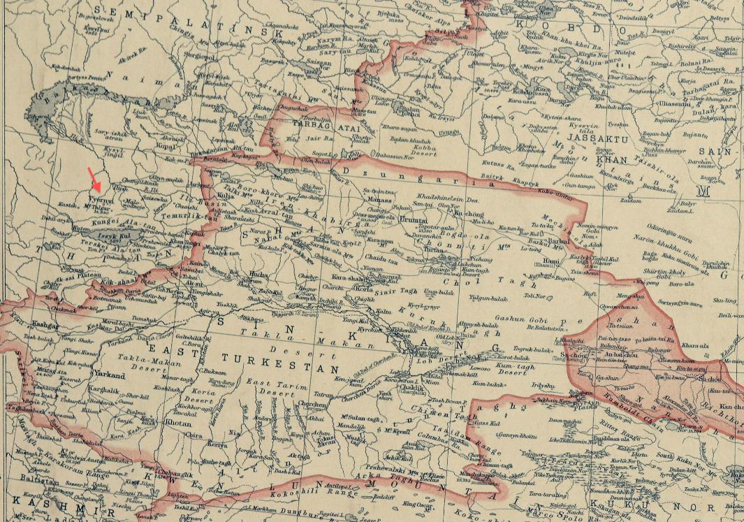 National Geographic Map Of China.File 1912 Vyernyi Detail Of National Geographic Magazine Map Of