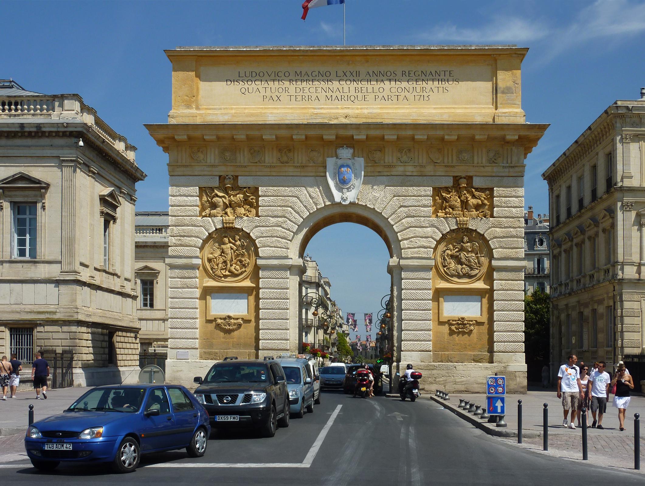 File 232 montpellier l 39 arc de triomphe la fa ade ouest jpg wikimedia commons - Arc de triomphe montpellier ...