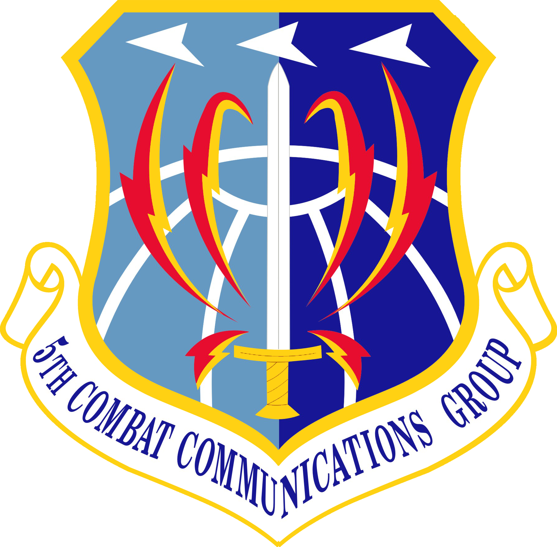 USAF 53d AIR TRAFFIC CONTROL SQ FIGHTING GATORS ORIGINAL AIR FORCE PATCH