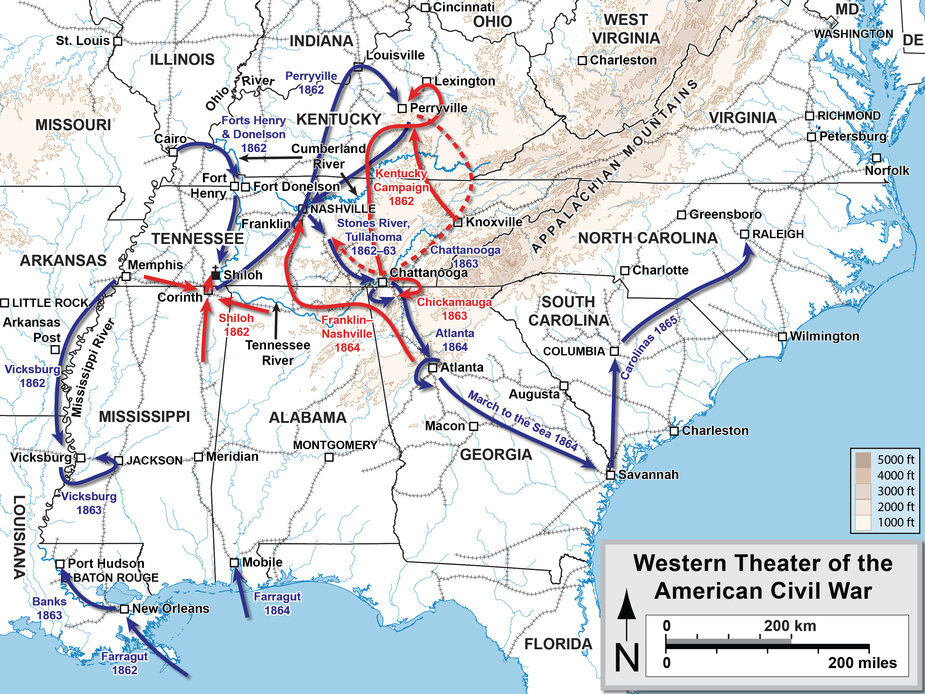 Civil War Encyclopedia Map