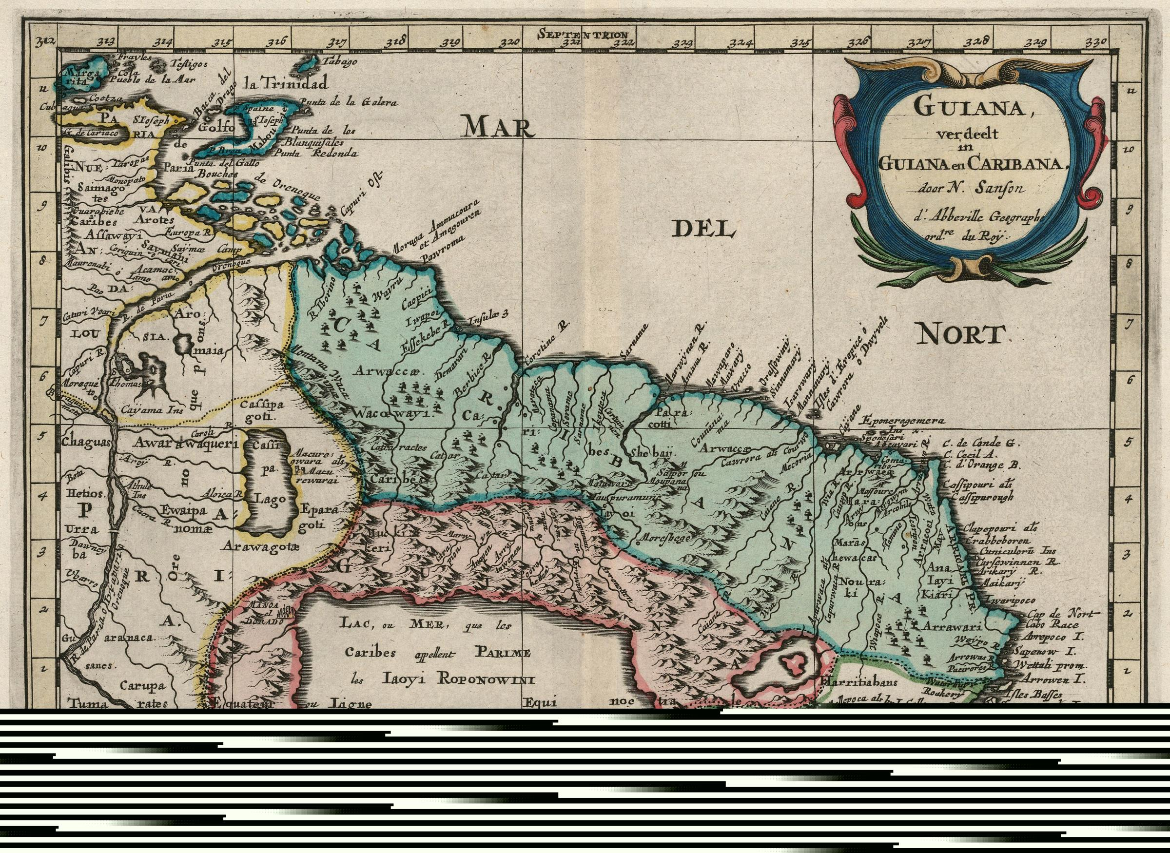 FileAMH6683KB Map of the north east coast of South Americajpg