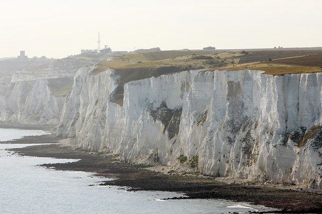 Aerial photo showing Fan Bay, Dover Cliffs - geograph.org.uk - 1502151