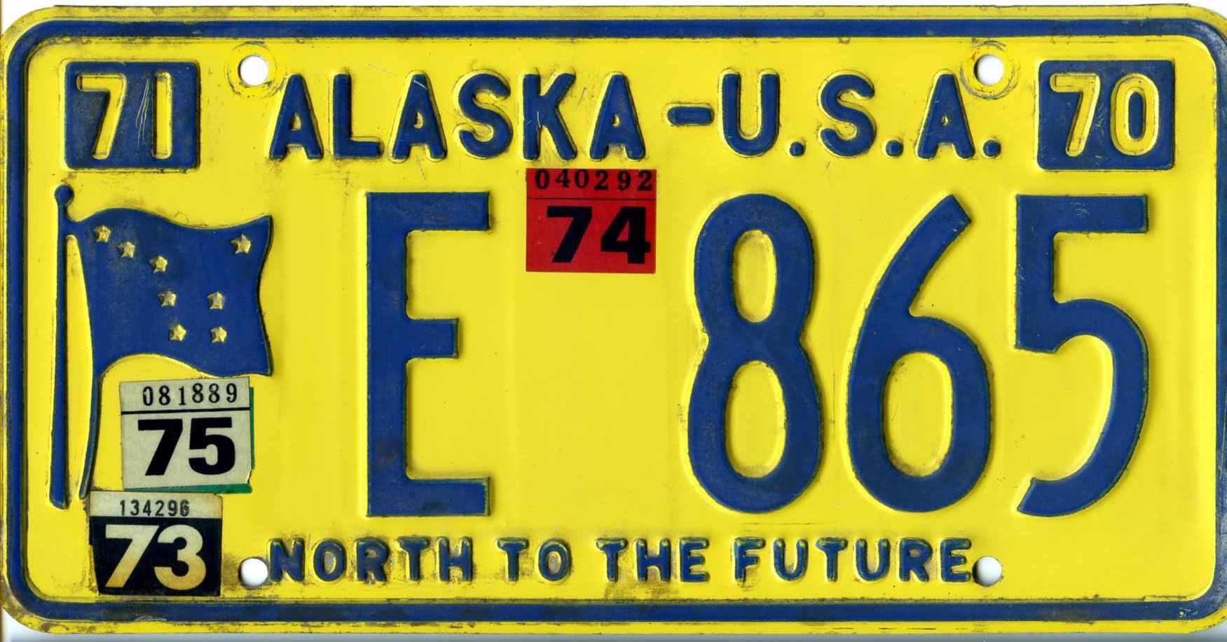 alaska Plate 1970 Sticker Wikipedia 1975 E Number License On - File 865 jpg
