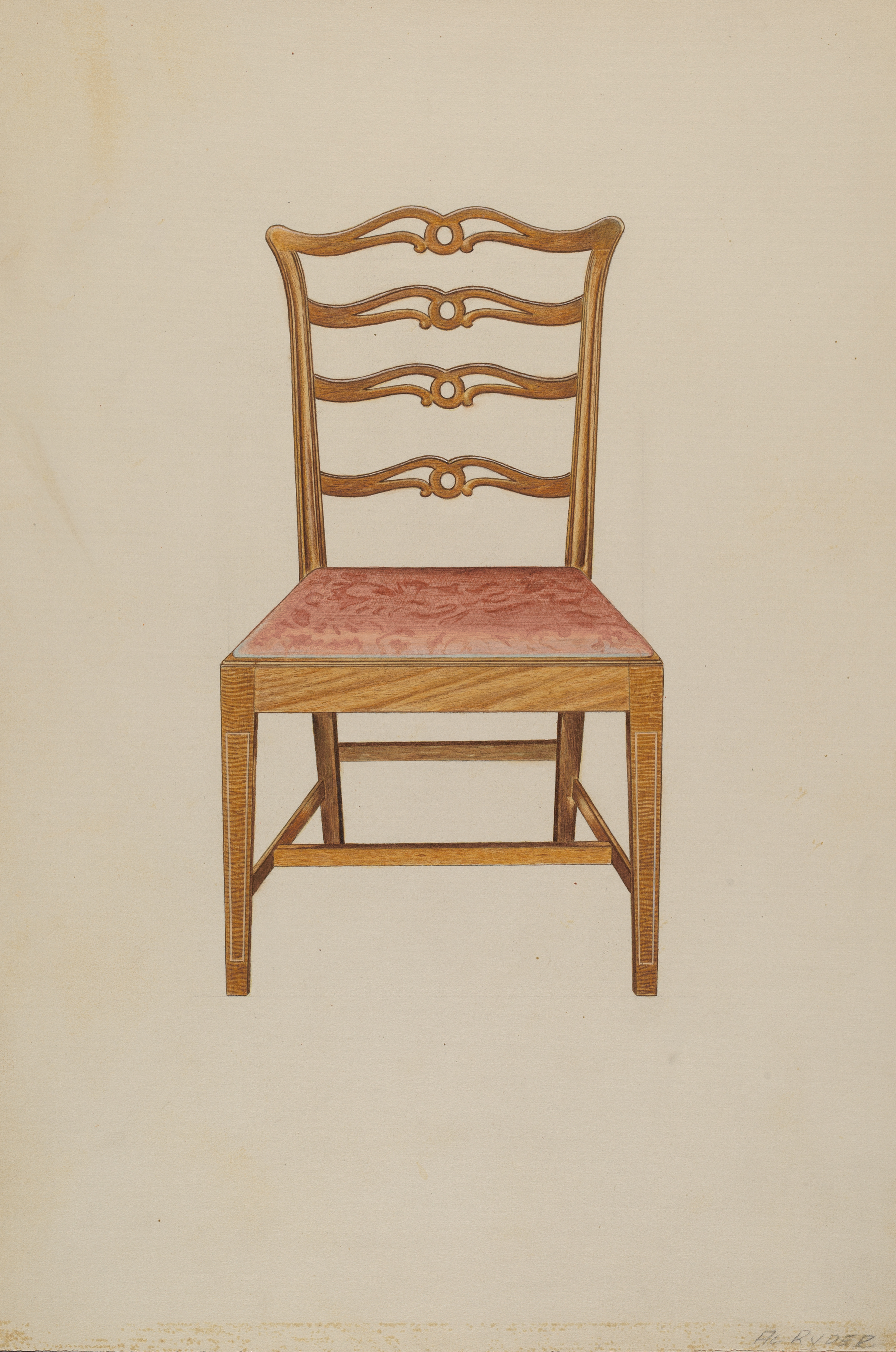 Picture of: File Albert Ryder Ladderback Chair 1935 1942 Nga 16439 Jpg Wikimedia Commons