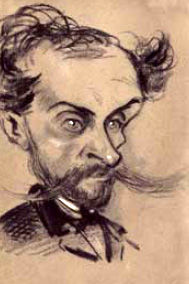 Alphonse Royer(caricature by Nadar ca. 1857)