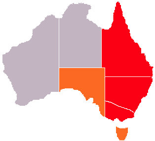 Map Eastern Australia.Eastern States Of Australia Wikipedia