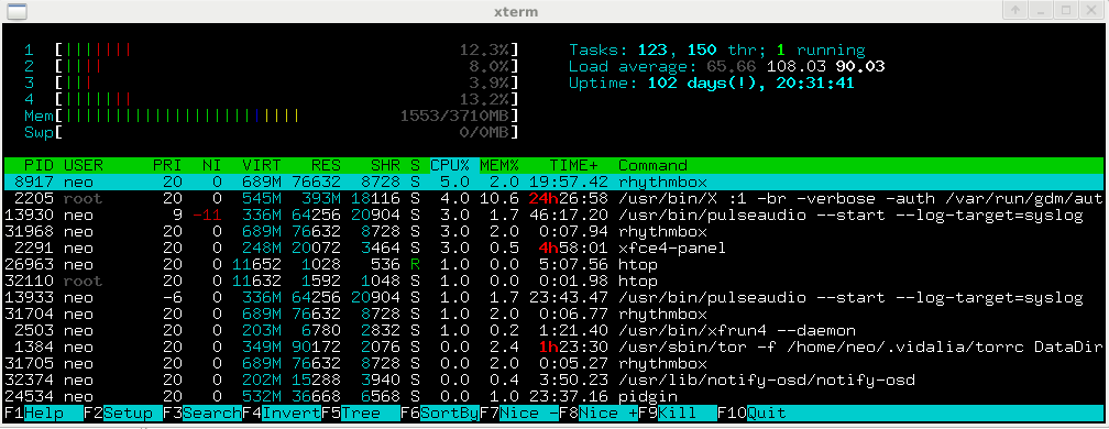 uptime command in linux