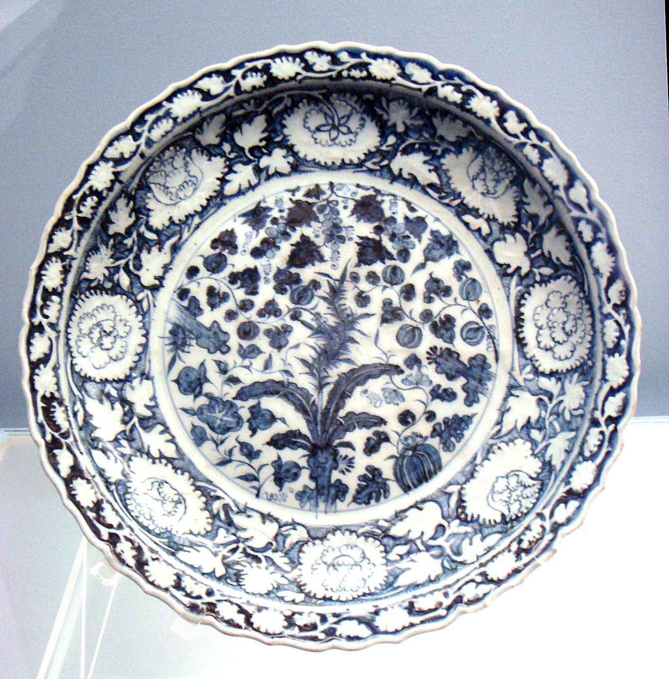 Blue And White Plates Amusing With Blue and White Porcelain Plate Image