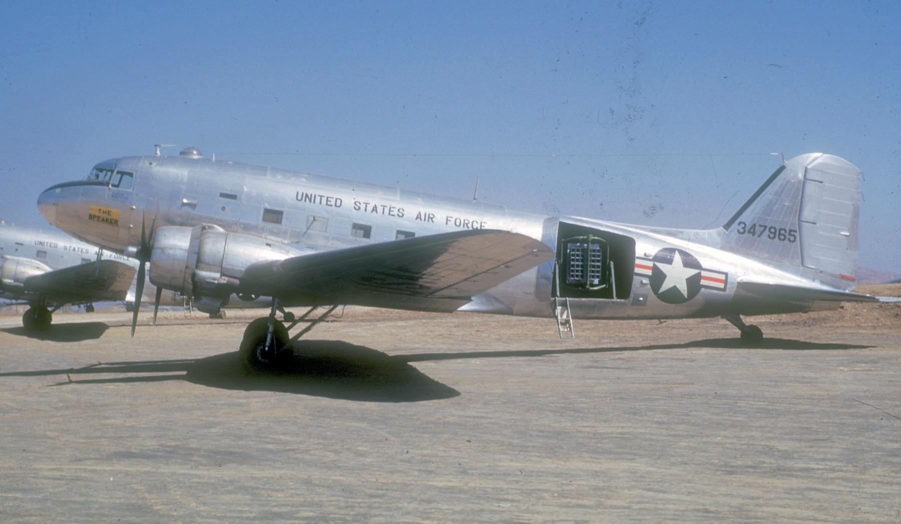 File C 47a Usaf With Loudspeakers During Korean War Jpg