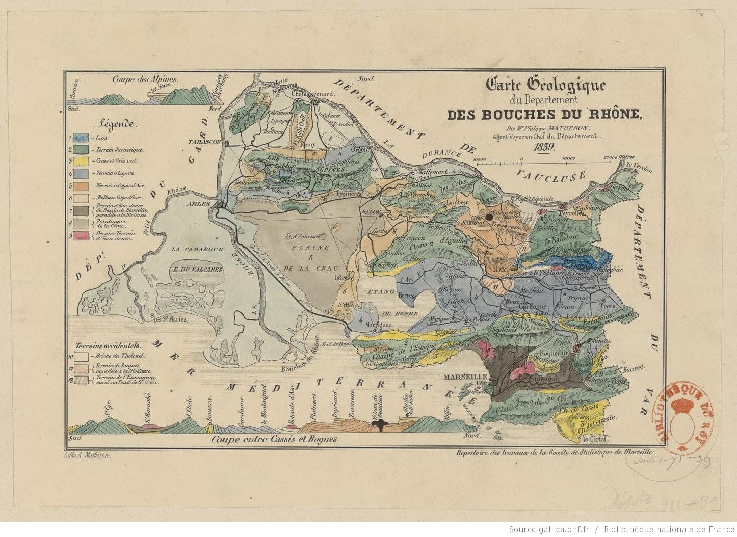 Fichiercarte Géologique Du Département Des Bouches Du Rhône