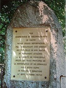 Monument for Michael Servetus, Champel, Switze...
