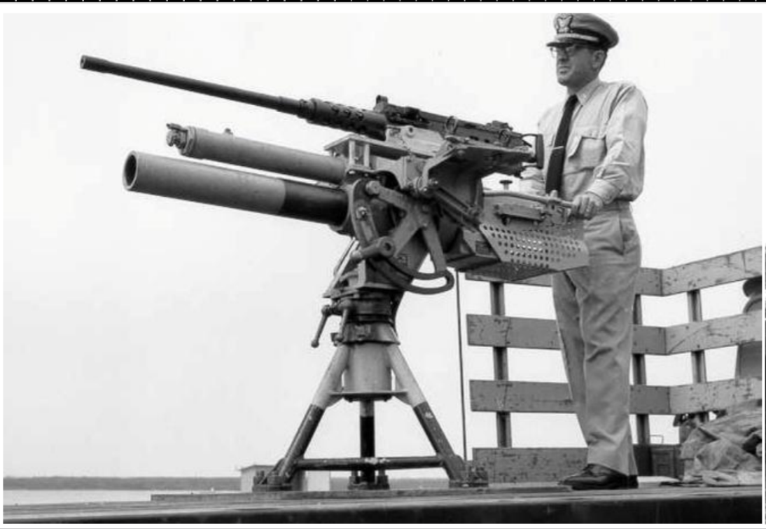 file coast guard dual mount for a 50 cal bmg and a breech loading