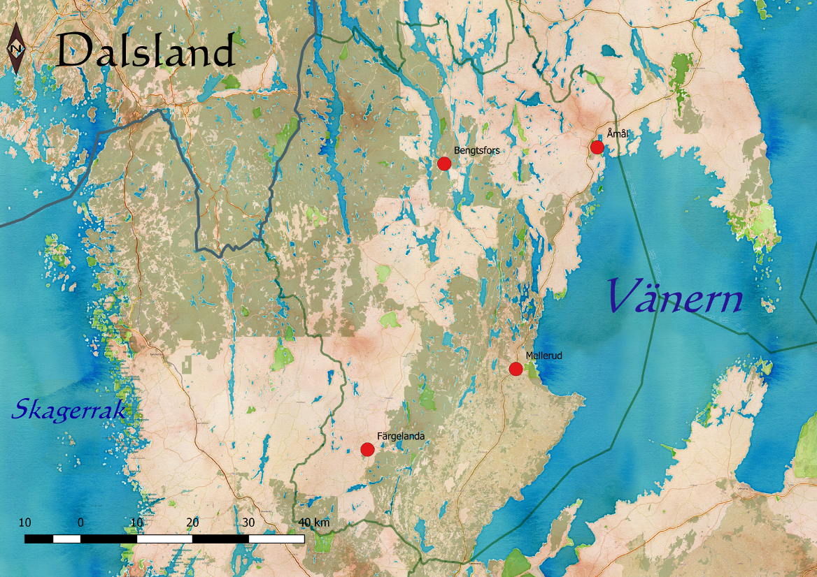 Schweden Karte Pdf.Dalsland Wikipedia