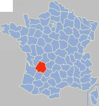 Localisation de la Dordogne en France