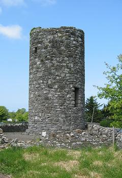 The Round Tower at Drumcliffe, County Sligo. A...