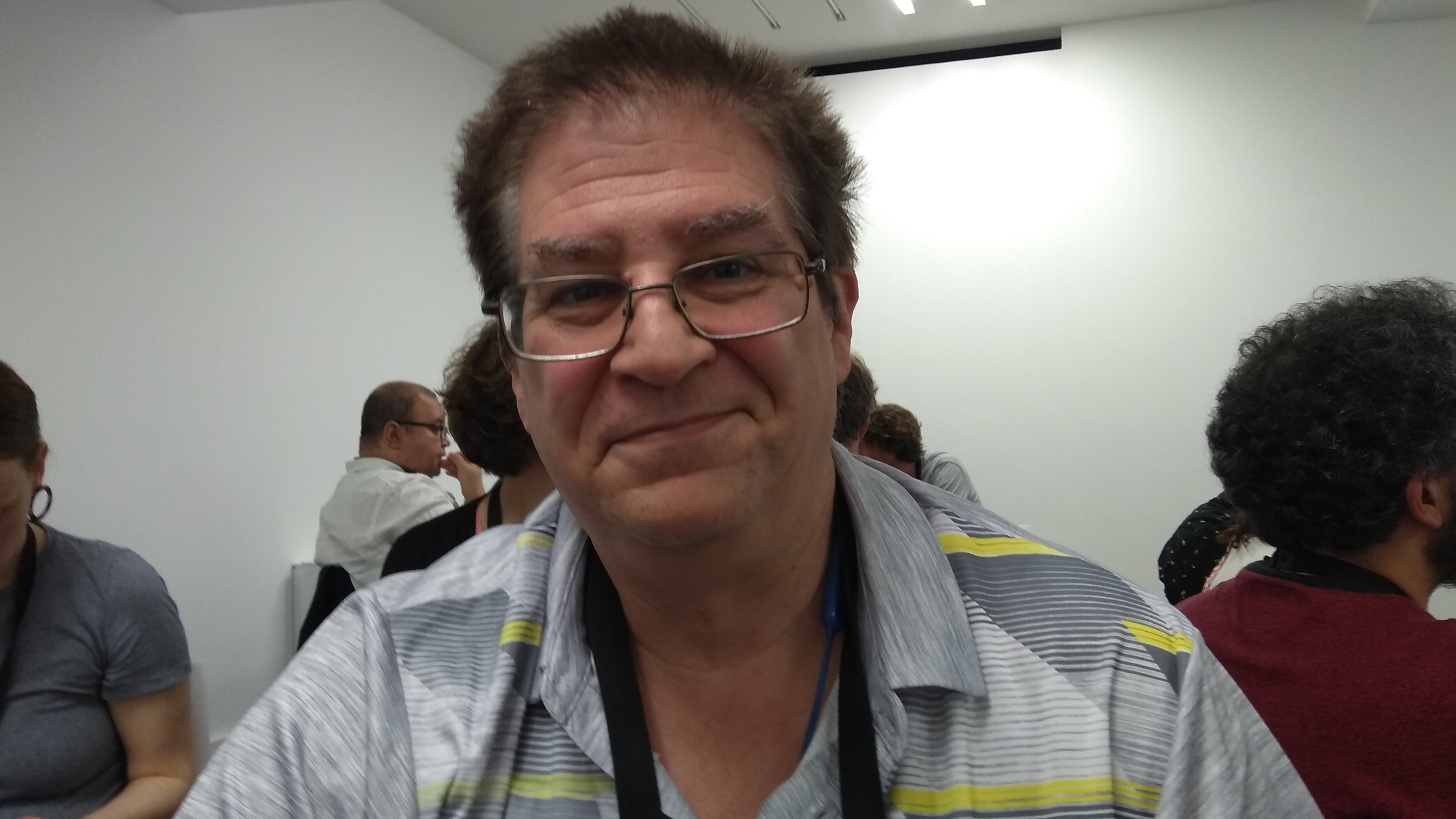 25 December 2020 English Evan Leibovitch, from LPI the Linux Professional Institute. May 2019 at Lisbon. Photo copyleft by Frederick Noronha (FN). Creative