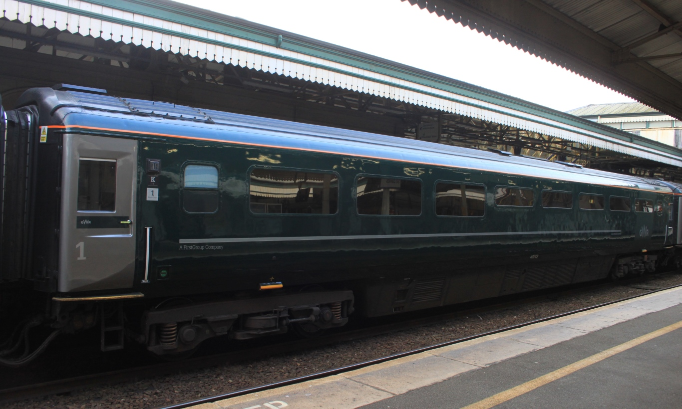 File Exeter St Davids Gwr Mk3 Trfb 40743 Jpg Wikimedia Commons