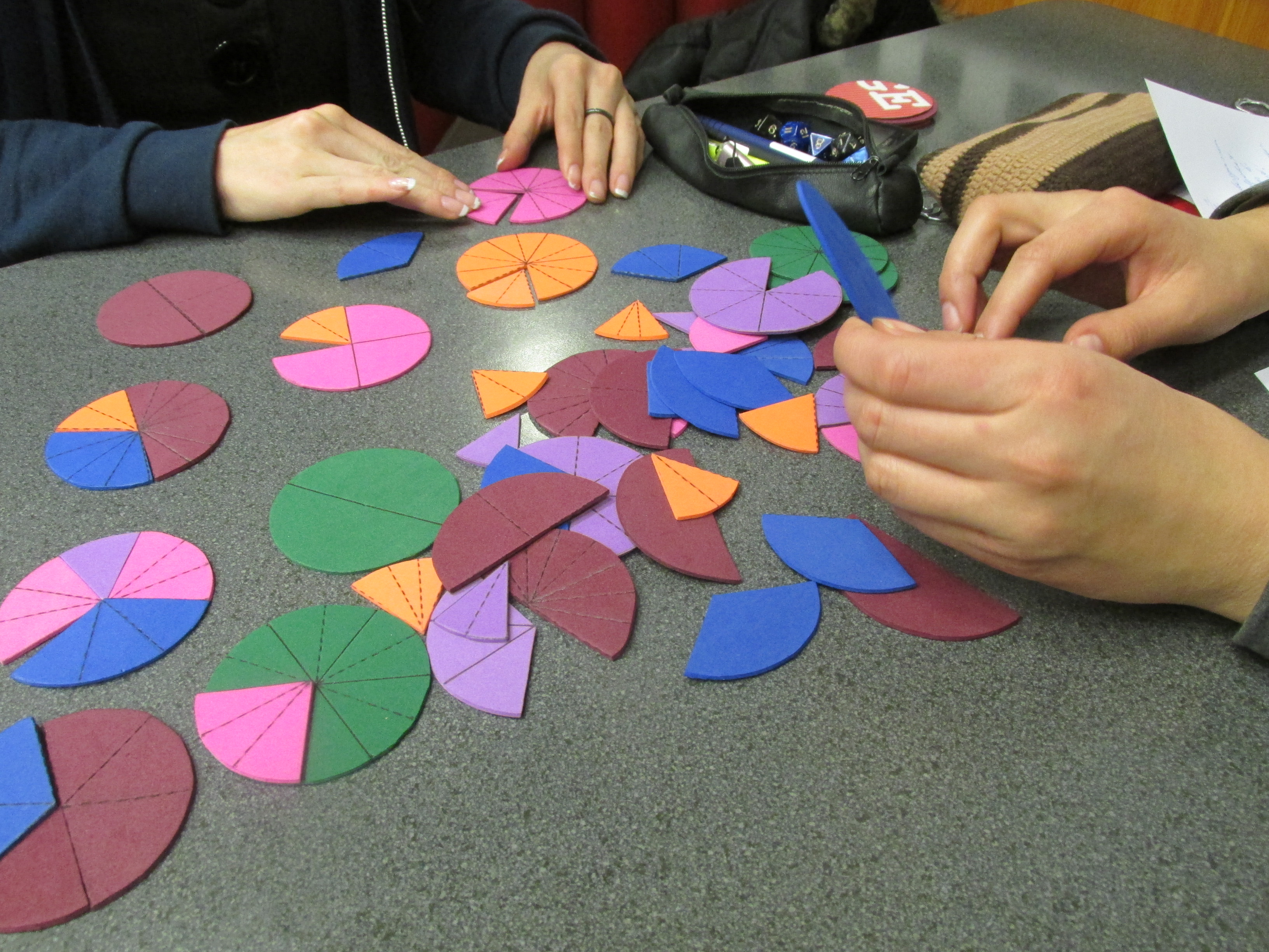 Fraction To Mm Chart: Foam paper fraction pies.JPG - Wikimedia Commons,Chart