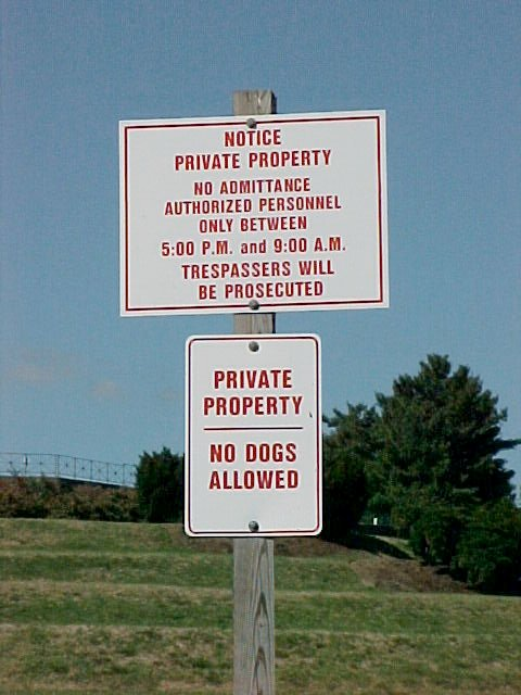 Private Property Signs In Rockyview County Ab Law