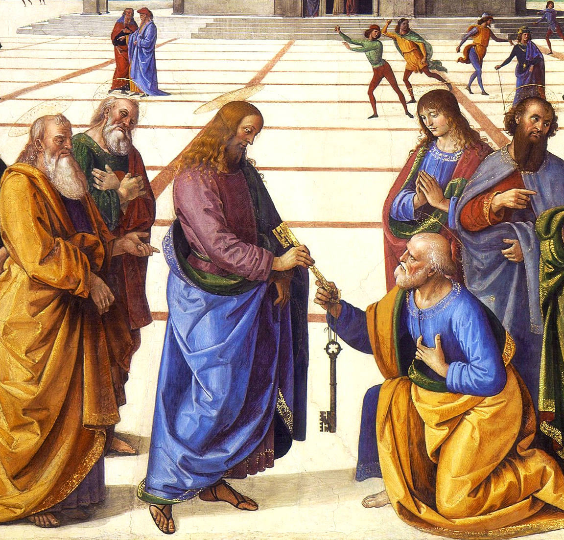 Christ Handing the Keys to St. Peter by Pietro Perugino (1481-82).
