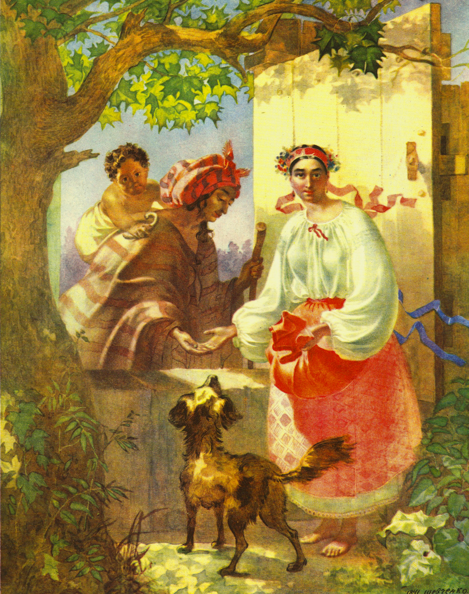 http://upload.wikimedia.org/wikipedia/commons/2/2d/Gipsy_Fortune_Teller_by_Taras_Shevchenko.jpg