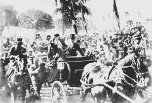 A festa durante a posse em 1910