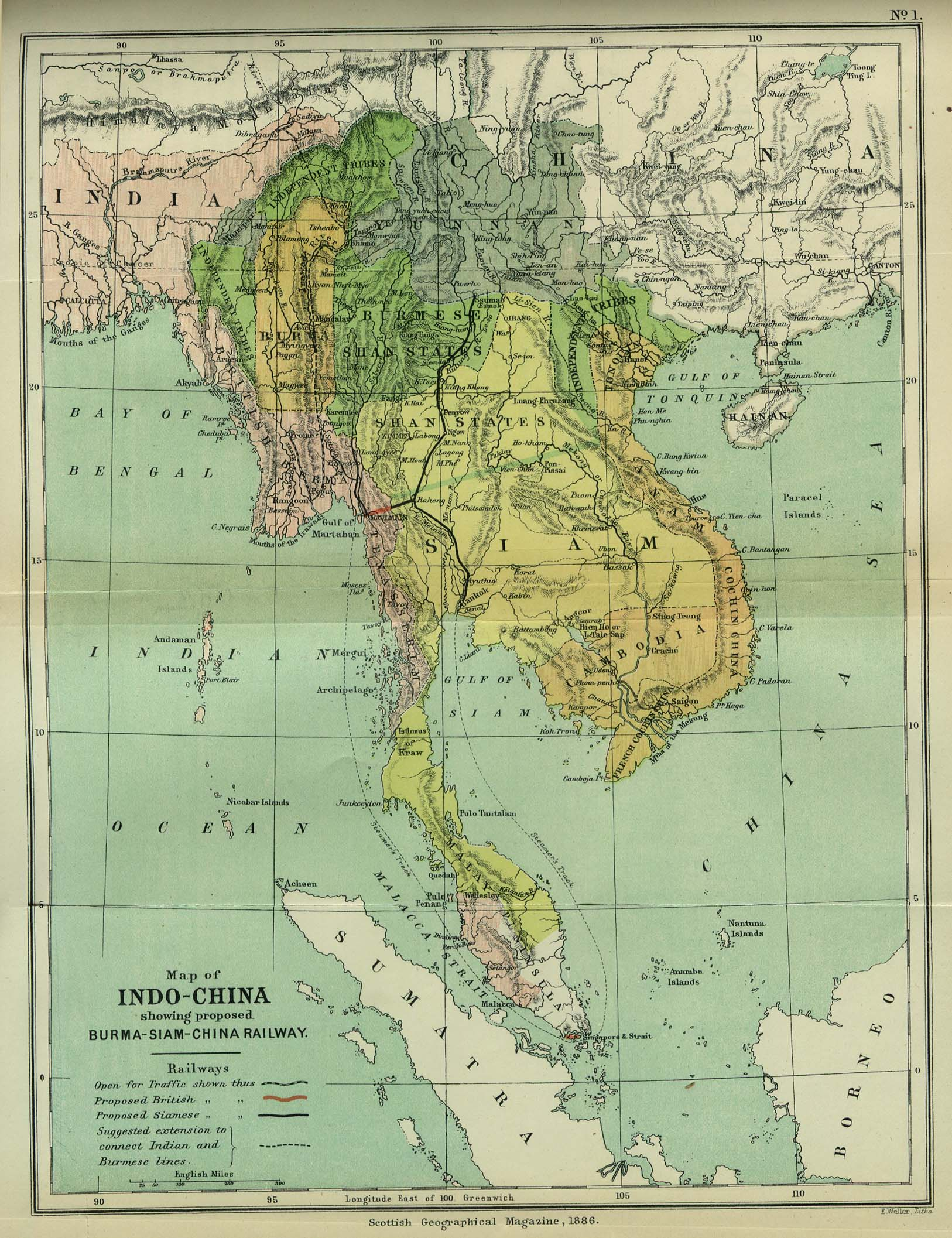 French Indochina Map
