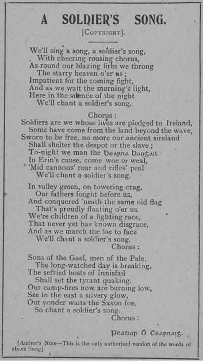 photo regarding Black National Anthem Lyrics Printable referred to as Amhrán na bhFiann - Wikipedia